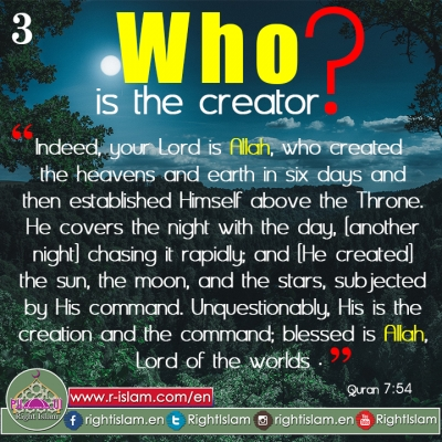 Who is the Creator? (3)